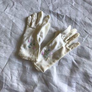 Vintage girls gloves